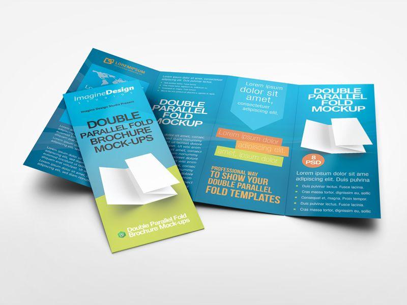 Pin by PENNINGS ONTWERPT on Flyer Pinterest - gate fold brochure mockup