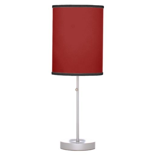 Sierra Solid Dark Red Lamps Home Pinterest Red Table Lamp