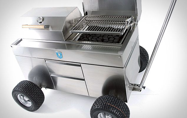 grills on wheels talk about perfect for tailgating got to love german engineering with on outdoor kitchen on wheels id=75858