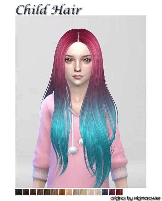 Sims 4 CC's - The Best: Hair for Child by ShojoAngel #girlhair