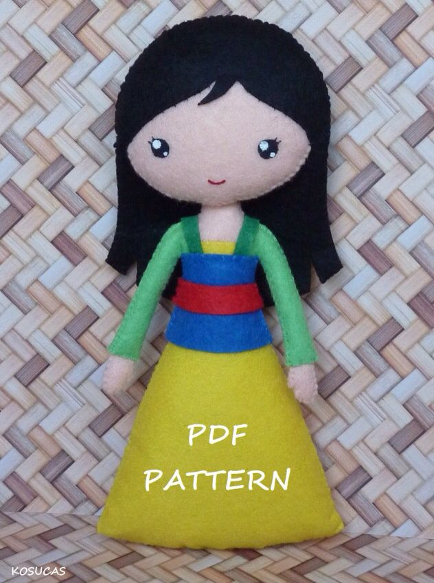 Mulan felt   Felt crafts   Pinterest   Filz, Plüsch und Figuren
