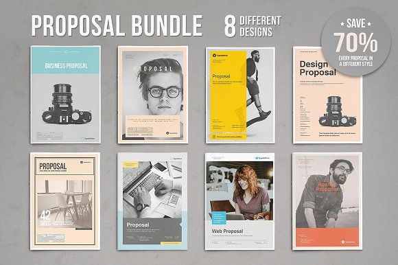 Proposal Bundle by TypoEdition on @creativemarket brochure examples
