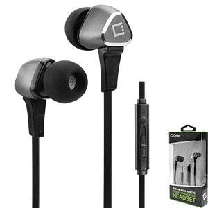 Sony Xperia E5 Silver Cellet Premium 3.5mm Hands-Free Stereo In-Ear Headphones with Multifunction Remote