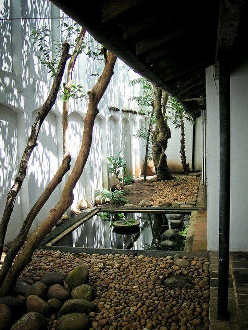 jardin japonais avec déco originale