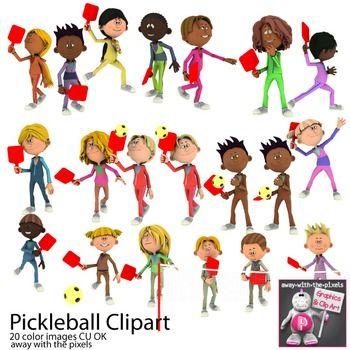 Pickleball Sport Clip Art For Pe Sports Clips Clip Art