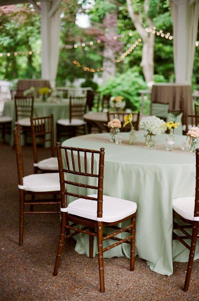 Garden Wedding Venue Outdoor Sage Green And Burlap Reception