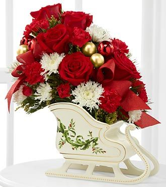 The FTD® Holiday Traditions™ Bouquet - VASE INCLUDED- Deluxe