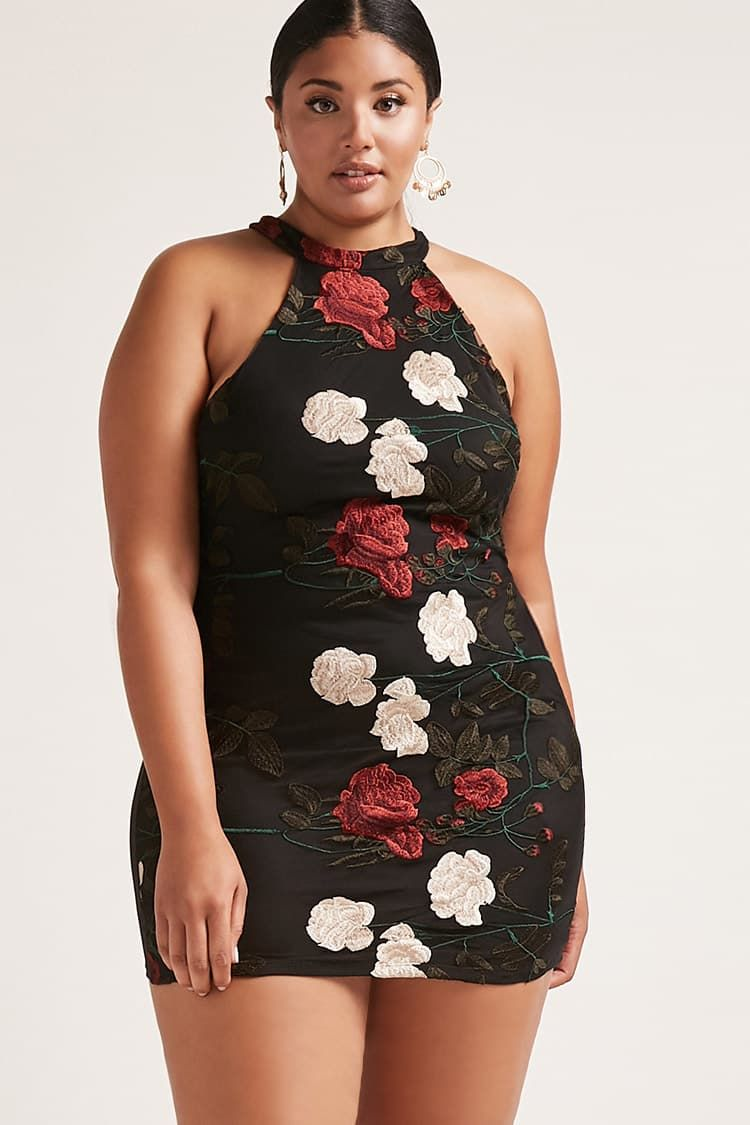 a6a30795961 Product Name Plus Size Rose Overlay Dress