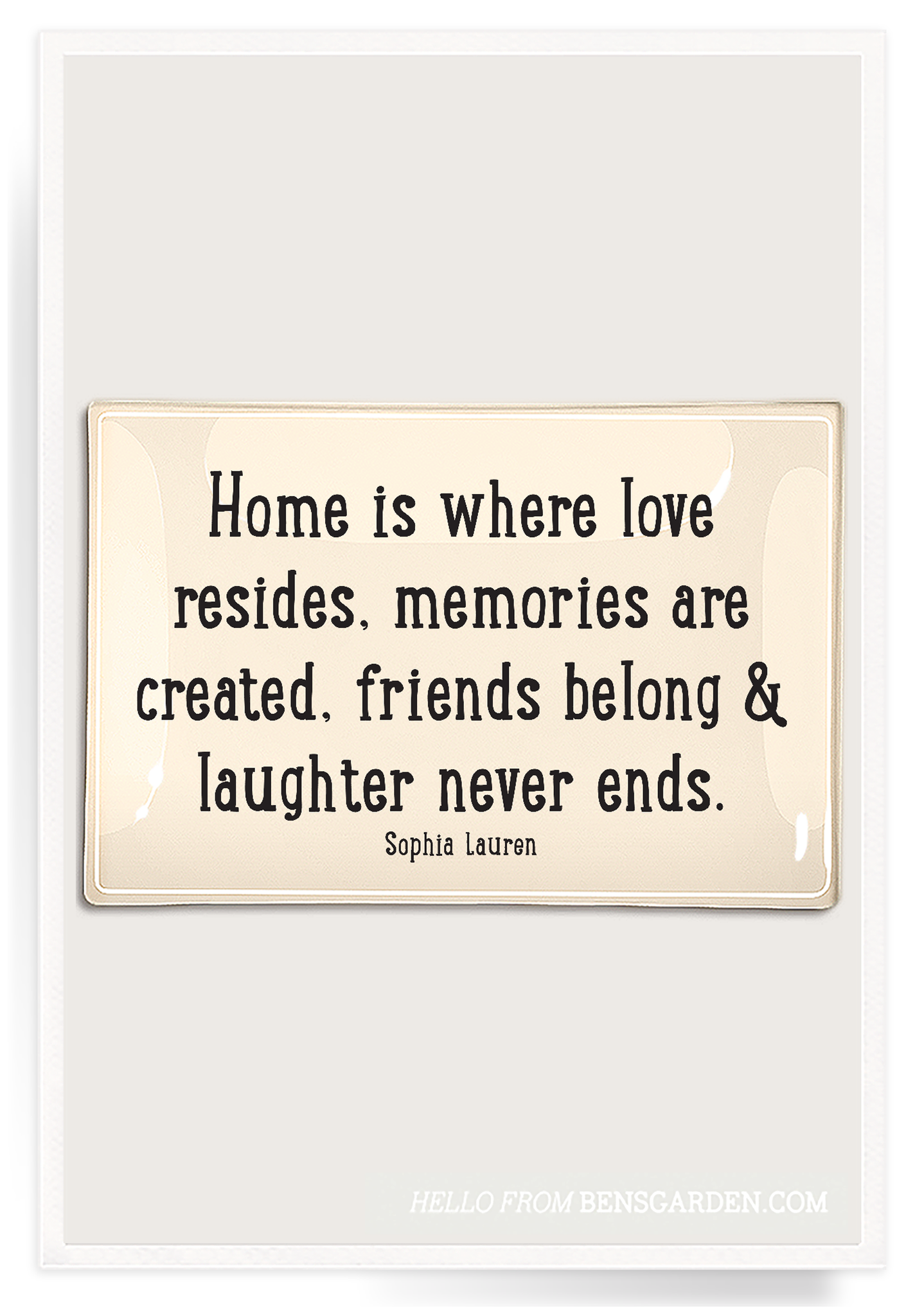 Home Is Where Love Resides Decoupage Glass Tray -