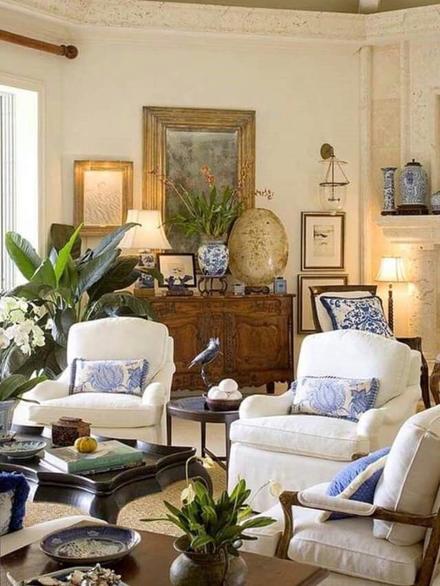 A big painting isn't the only option; Pinterest | Traditional design living room, Living room