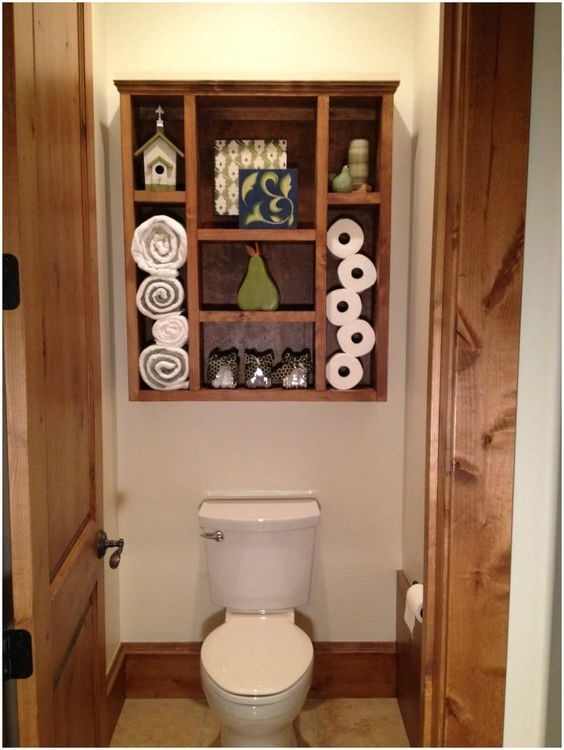 32 Brilliant Over The Toilet Storage Ideas That Make The Most Of Your Space
