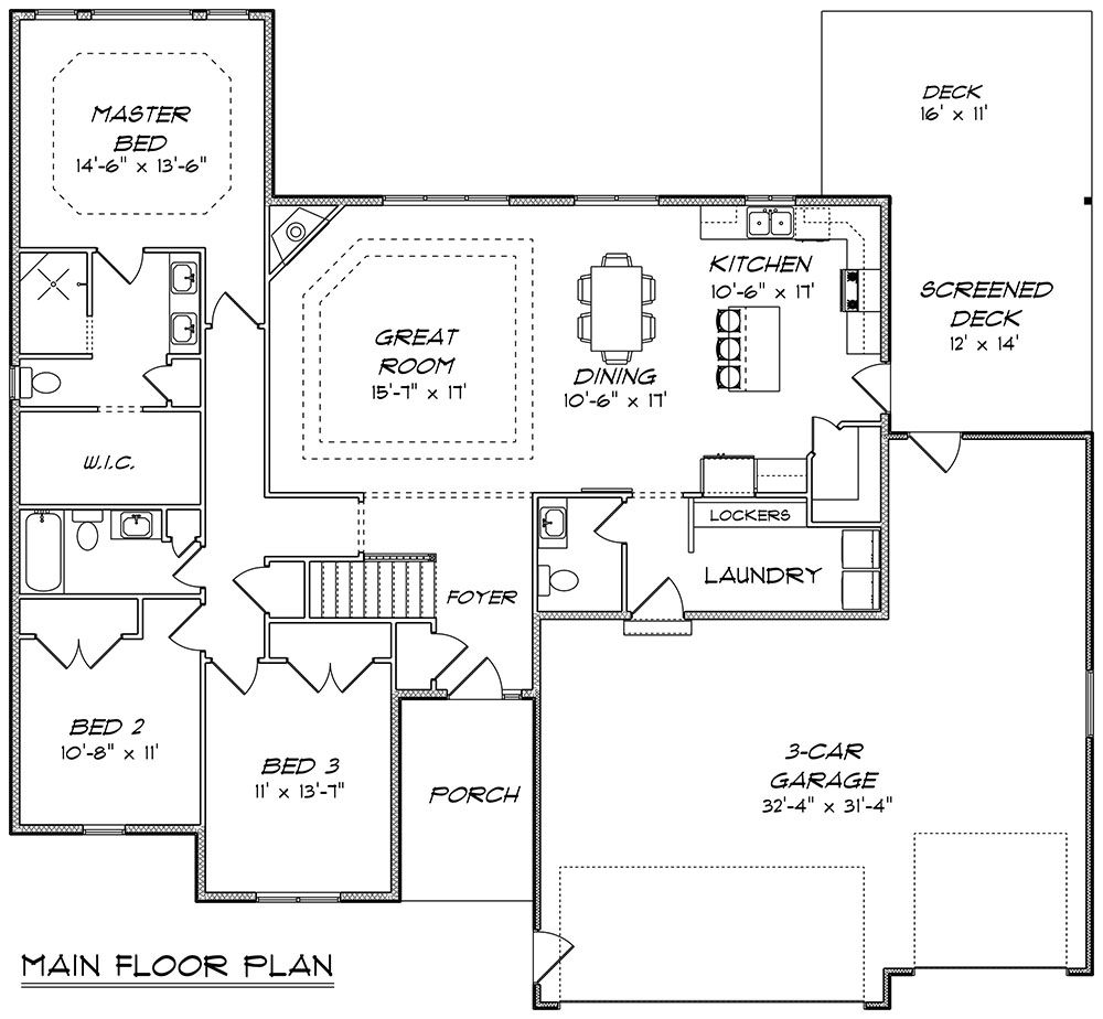 House Plan 5678 00009 Ranch Plan 1 850 Square Feet 3 Bedrooms 2 5 Bathrooms Floor Plans Ranch Garage Floor Plans House Plans