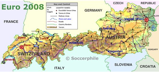Map of Austria and Switzerland World Maps Pinterest