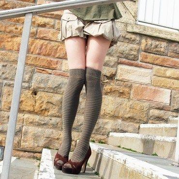 Fetish cable knee socks