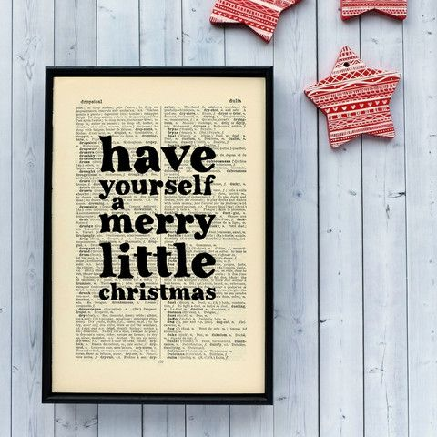 Have yourself a merry little Christmas Decor Print | obrazy a ramy ...