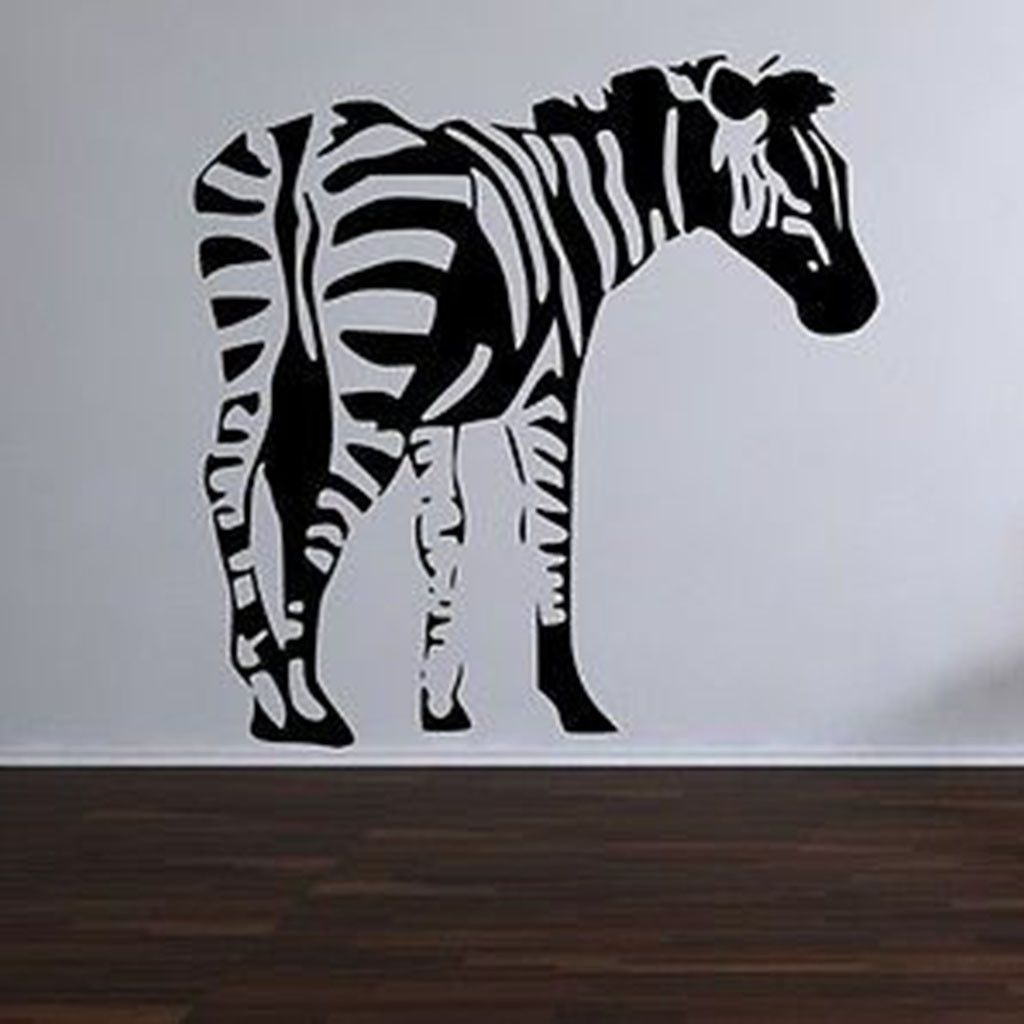 Beautiful Zebra Vinyl Wall Decal Sticker Part 31