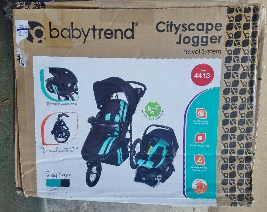 Baby Trend Cityscape Jogger Travel System Vivid Green New In Box