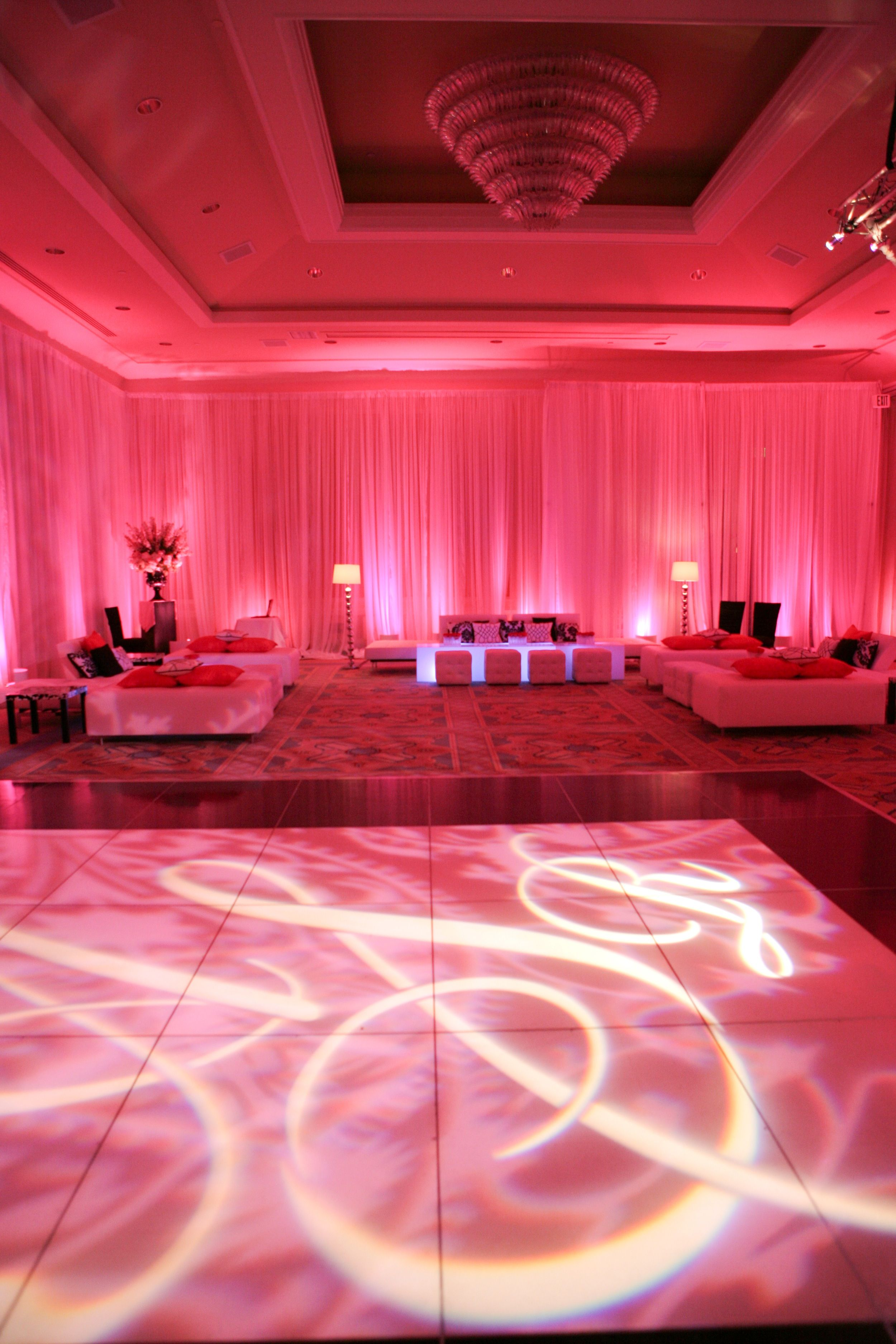 Enhanced Lighting divided the Four Seasons Ballroom into two rooms ...