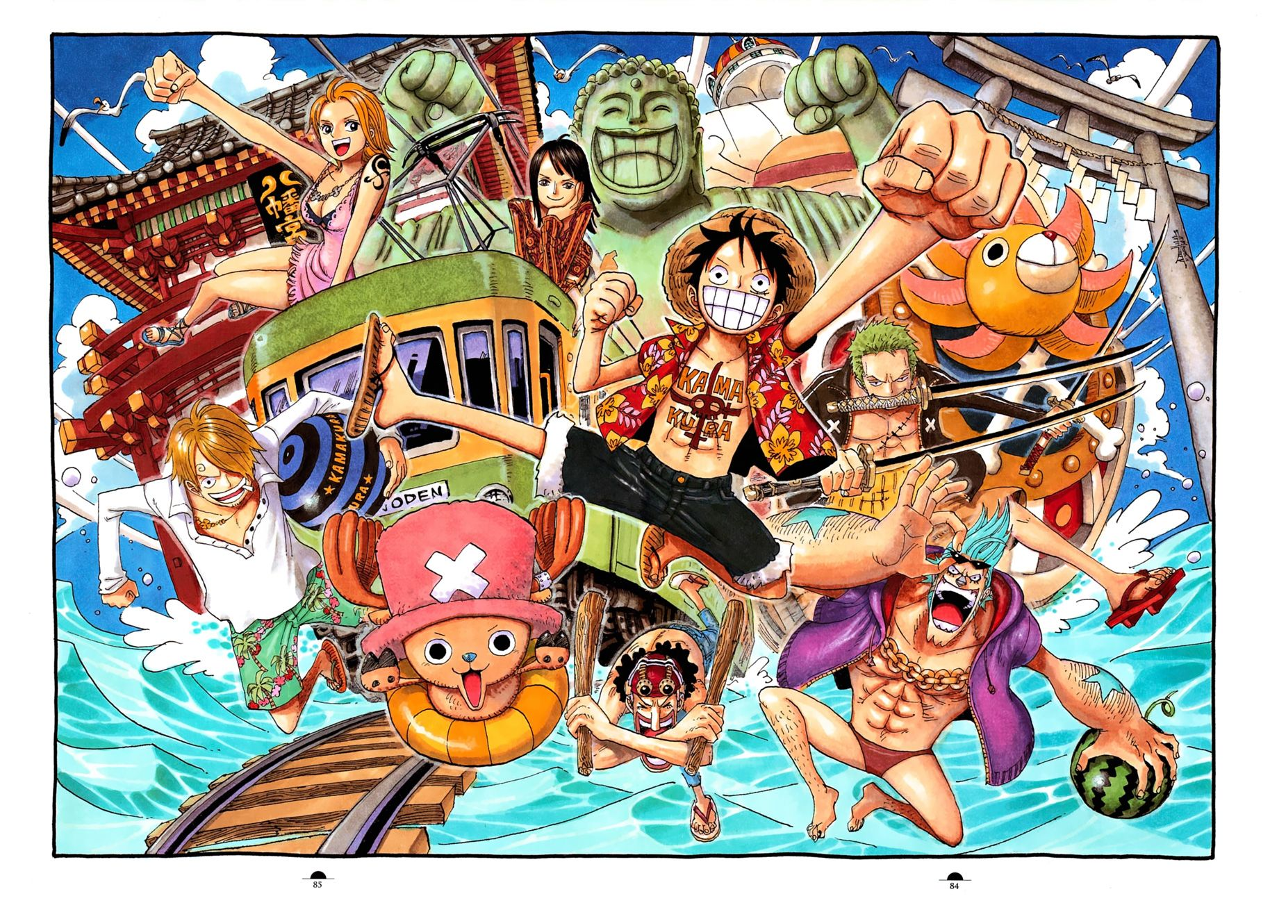 One Piece Color Walk Artbook 3 | One piece, Manga, Động vật