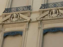 Lyon :Immeuble sur la place d'Helvétie : détail