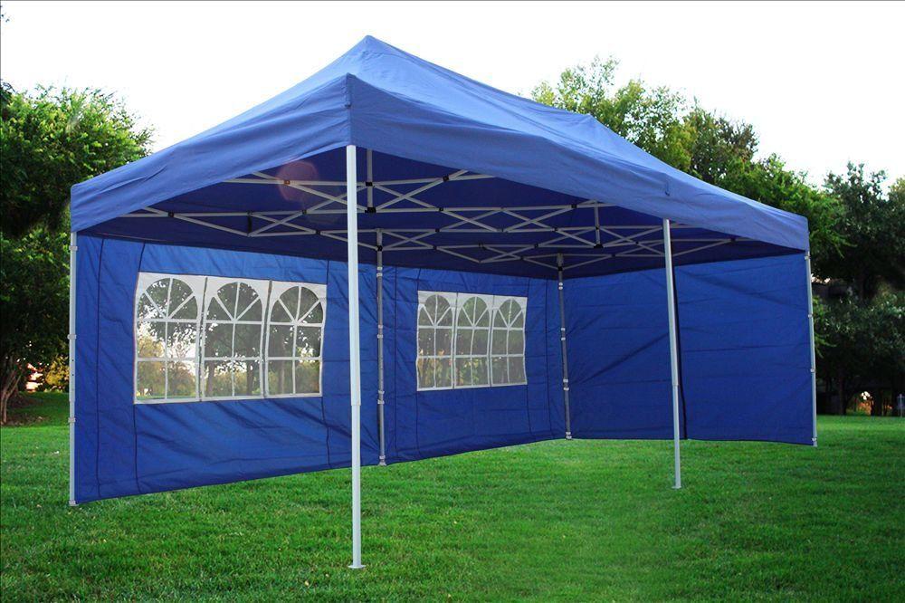 Ez Up Canopy 10x20 >> 10x20 Pop Up Canopy Wedding Party Tent Instant Ez Up Canopy Blue F
