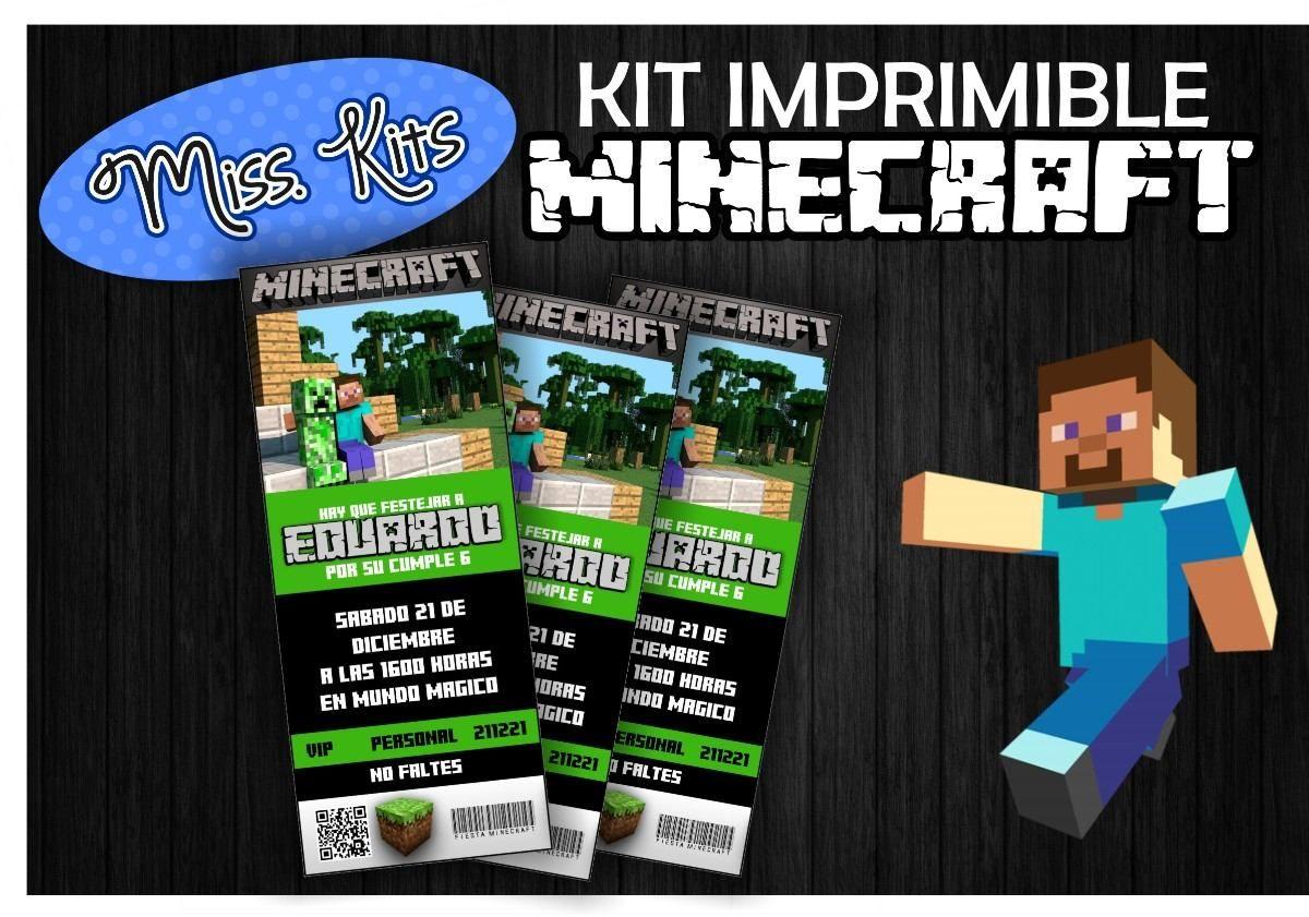 Kit Imprimible Gratis De Minecraft