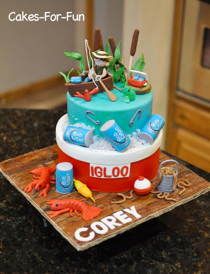 Fishing Birthday Cake Cake by Cakes For Fun Recepty na