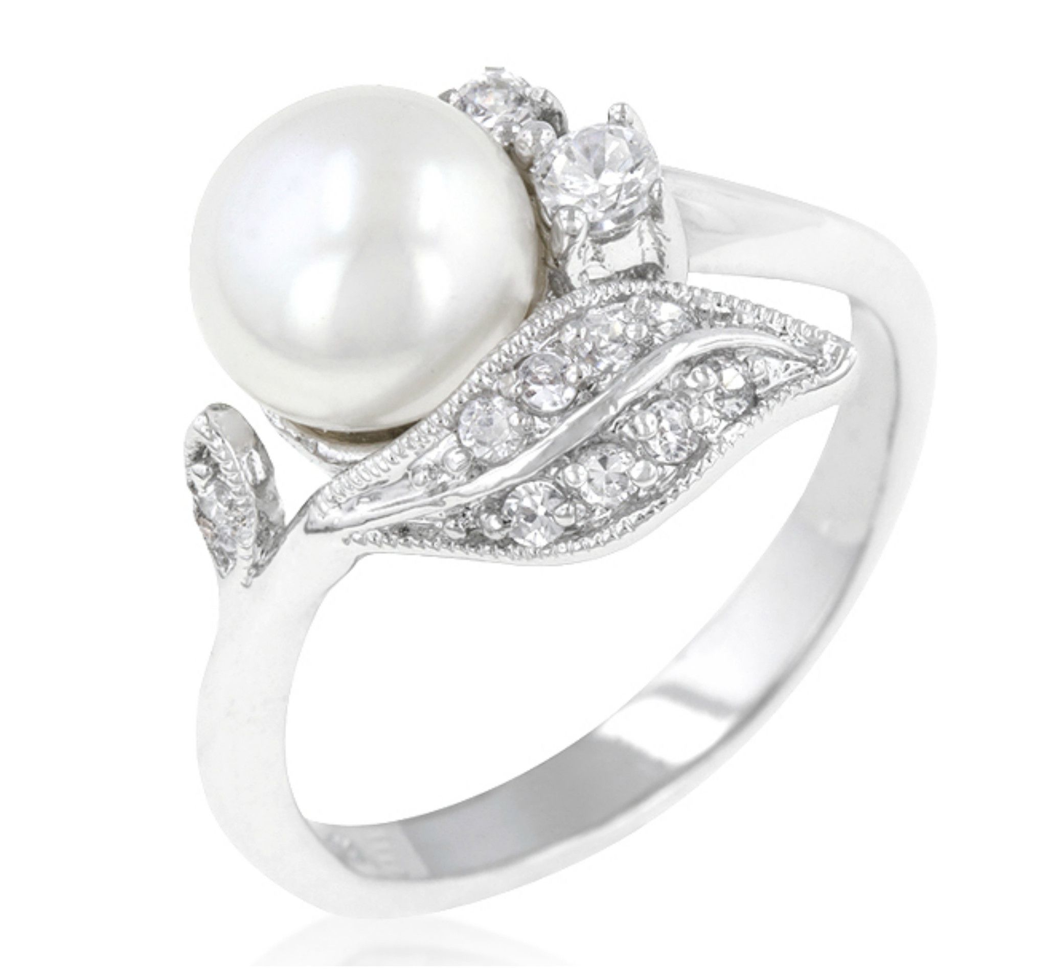 ring sterling engagement wedding rings pin freshwater silver pearl