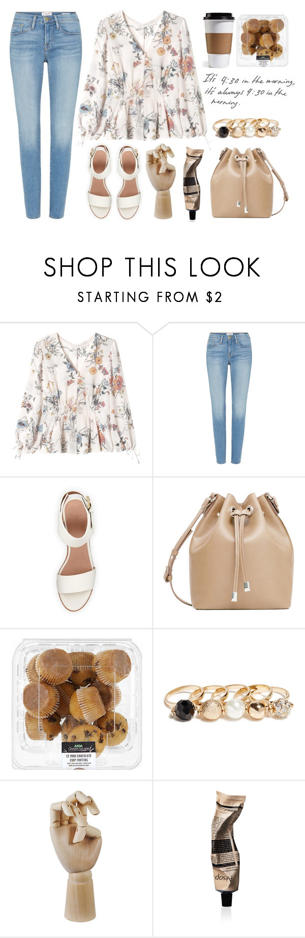 """Untitled #263"" by srikkanat-srkn ❤ liked on Polyvore featuring Rebecca Taylor, Frame Denim, BEA, MANGO, GUESS, HAY and Aesop"