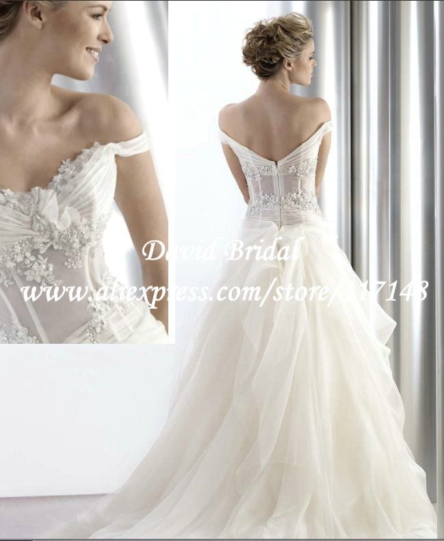 EF1484 Fairy Sexy Top Off Shoulder Beaded Corset See Through A Line ...