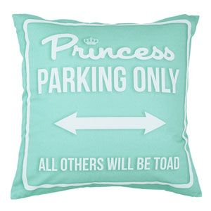 Princess Parking Only Large Verde Acqua by Carillon design