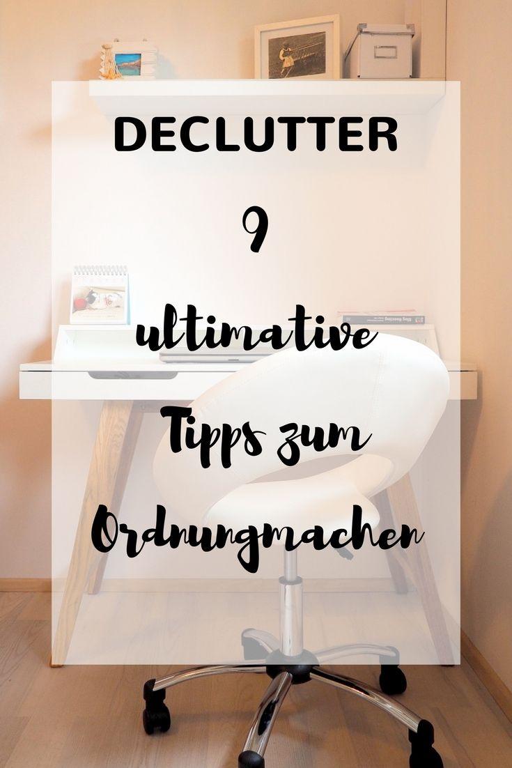 9 ultimative tipps zum ordnung machen aufr umen ordnung machen pinterest home. Black Bedroom Furniture Sets. Home Design Ideas