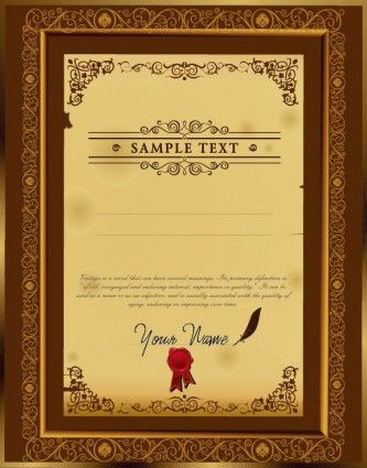 The certificate template design 02 vector projects to try the certificate template design 02 vector yadclub Image collections