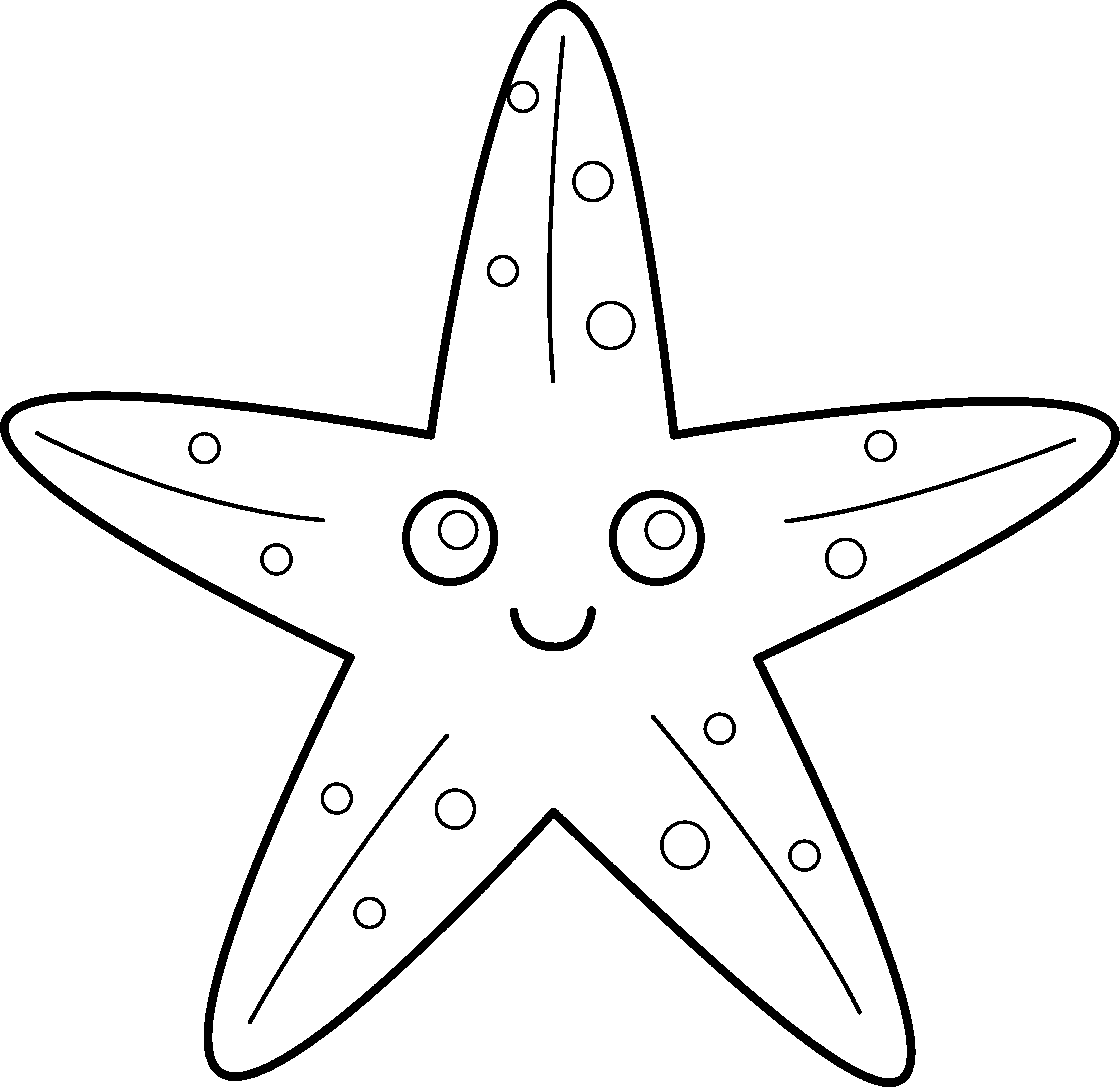 Starfish For Applique Vissen Haai School