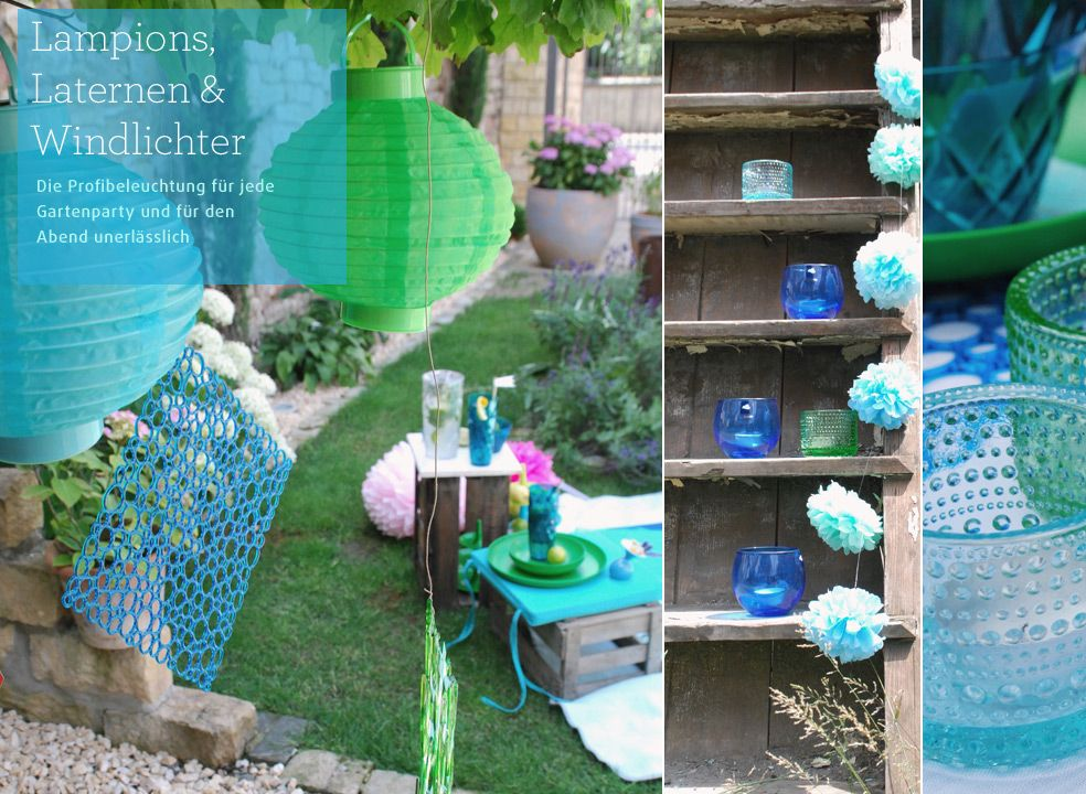 party deko gartenparty Eine Gartenparty feiern - Garten  Terrasse