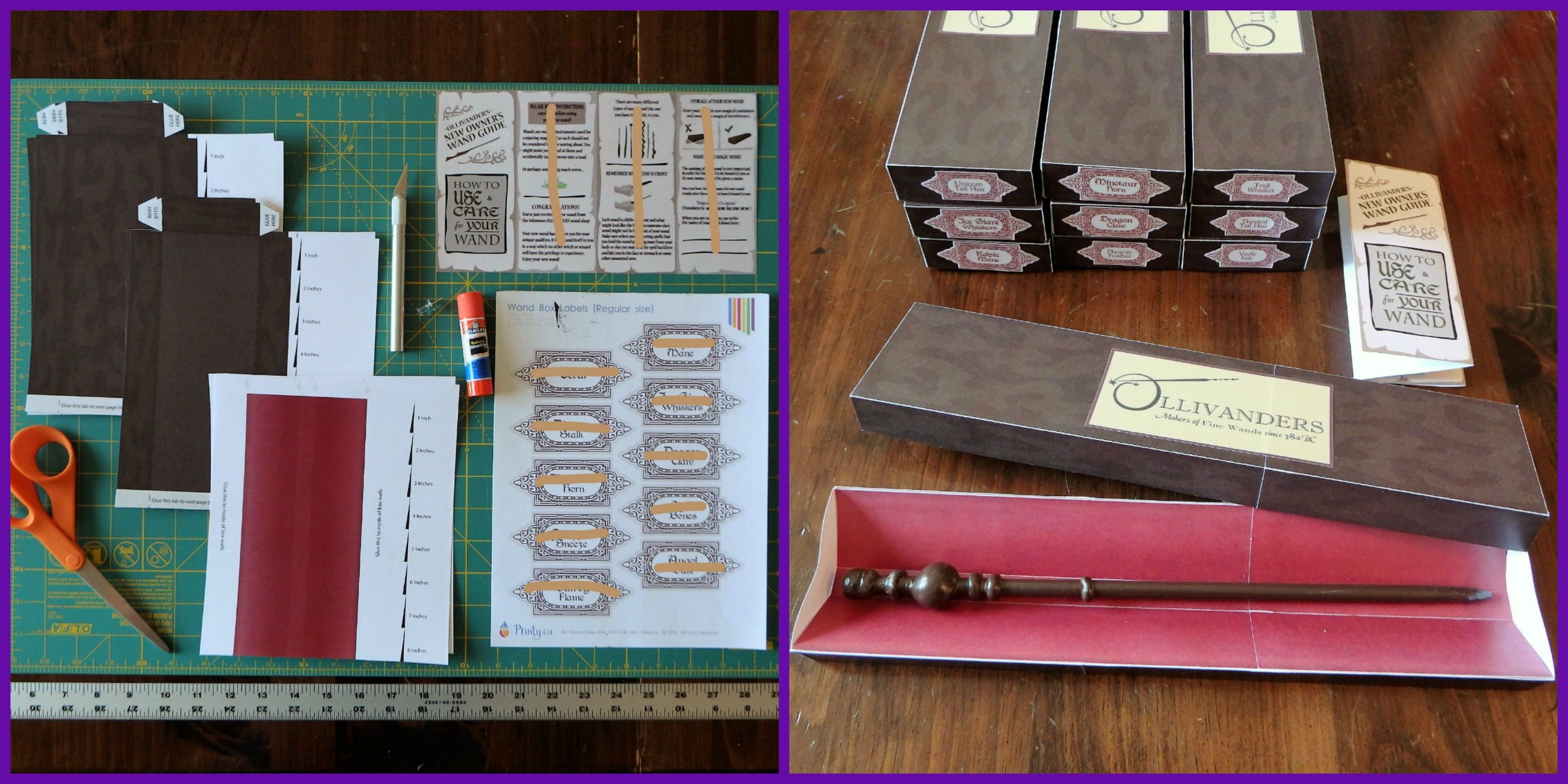 Harry potter wand box items 110 lb card stock for wand