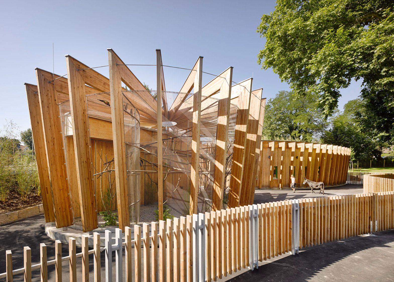 Kresings Architektur Adds Larch Animal Enclosures To Zoo Zoo Architecture Timber Architecture Zoo Animals