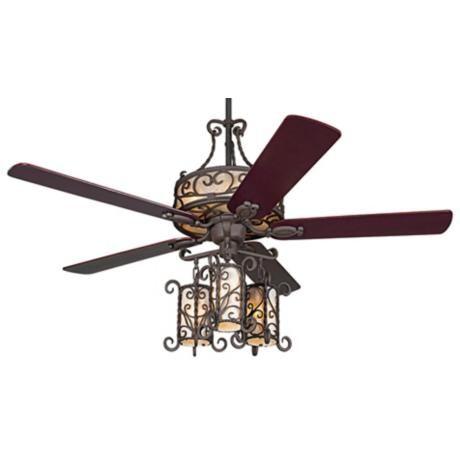 60 John Timberland Seville Iron Ceiling Fan With Remote Ceiling Fan Ceiling Fan Chandelier Ceiling Fan Design