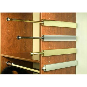 Extendable Closet Valet Rod   Chrome   12 Inch