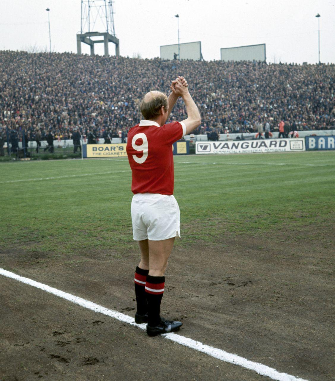 Bobby Charlton's final match for United, 1973. Bobby