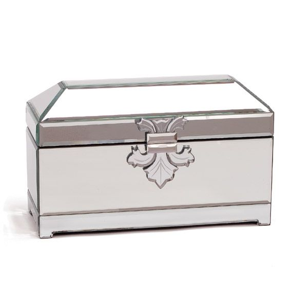 Mirrored Jewellery Casket Large Jewellery Box Boxes