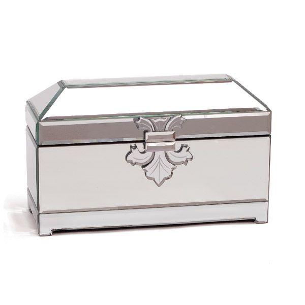 Mirrored Jewellery Casket Large Jewellery Box Boxes