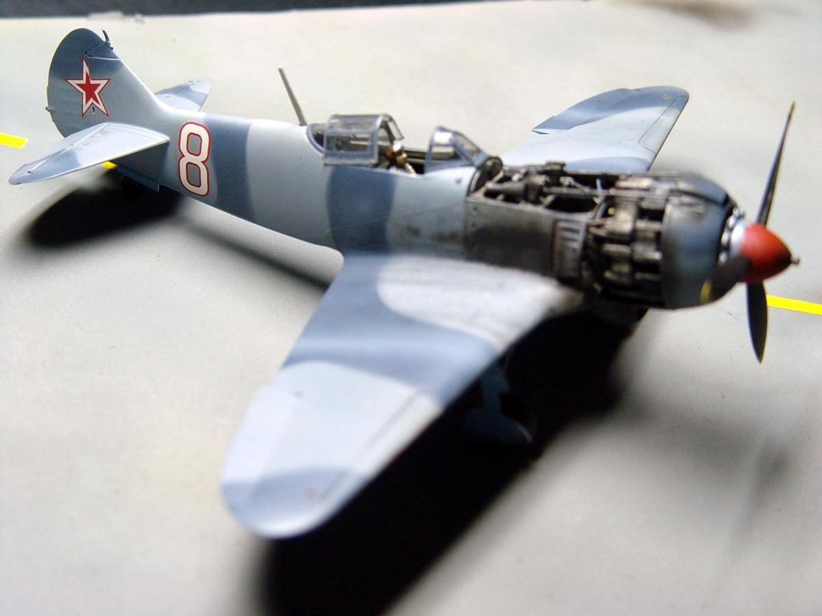 Lavochkin La-5FN Soviet fighter, Zvezda 1/48 | Plastic