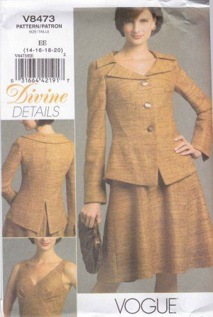 Vogue Sewing Pattern 8473 Misses Size 14-20 Easy Lined Flared Skirt ...