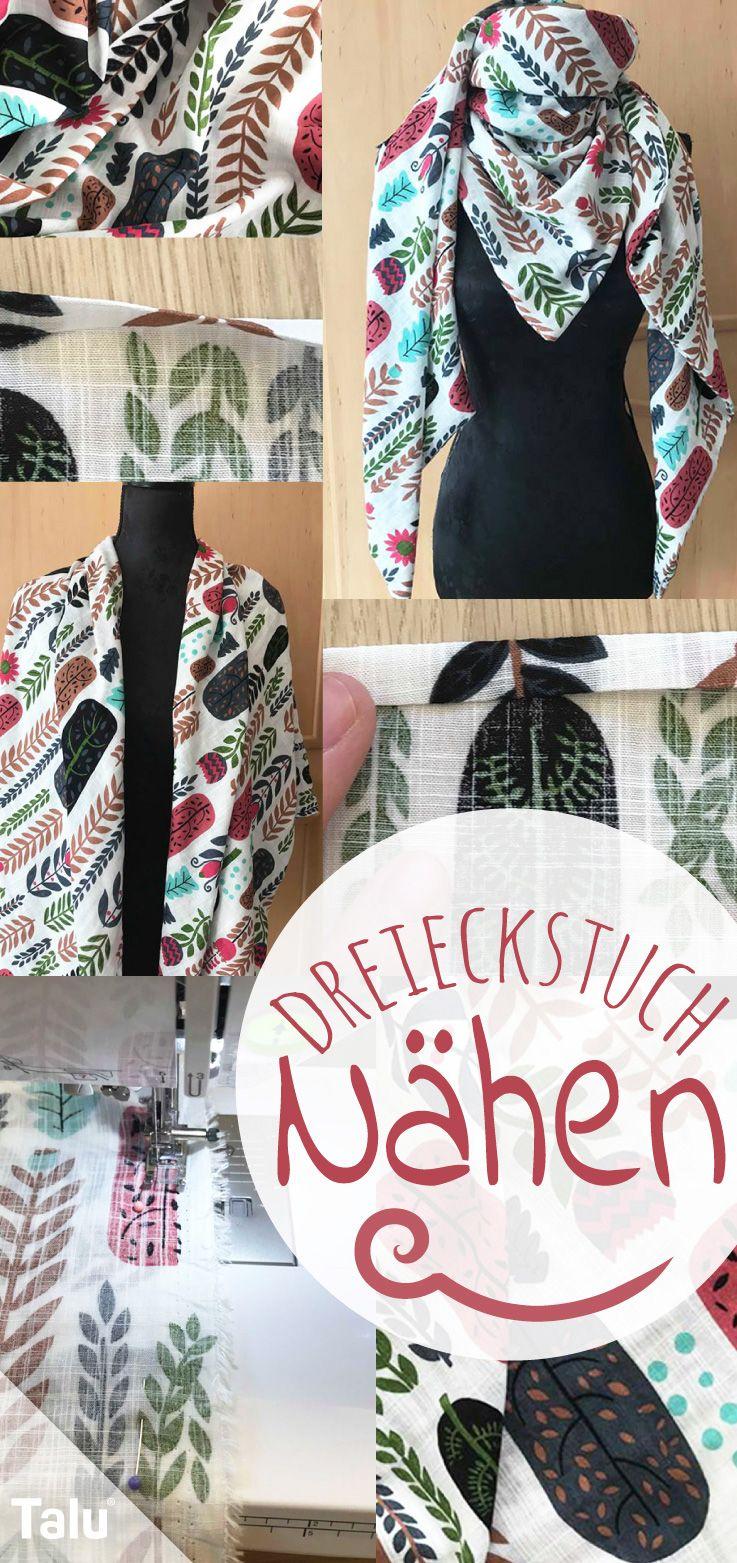 Dreieckstuch nähen aus Musselin – Anleitung #ponchodress