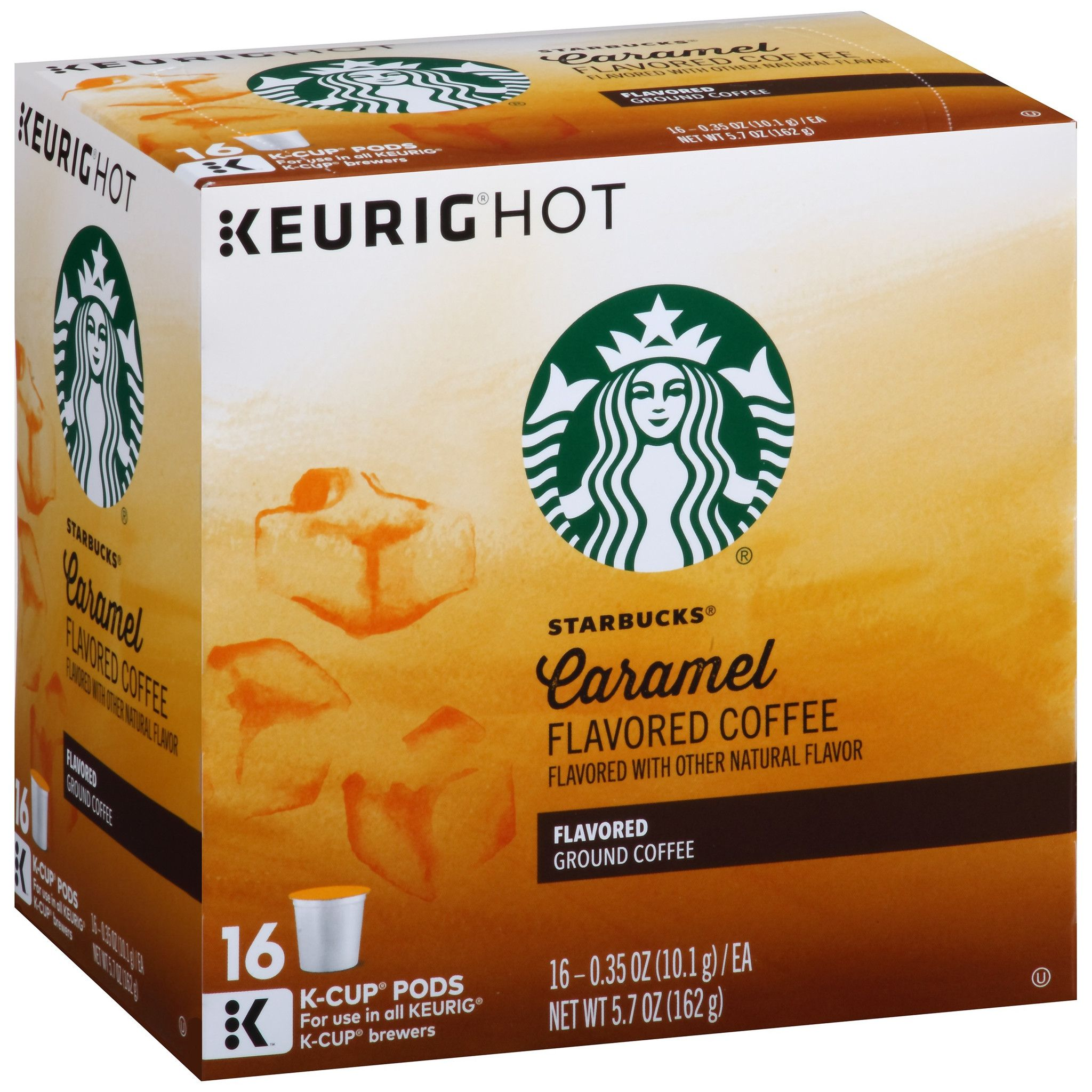 Starbucks® Caramel Flavored Coffee KCup® Pods 16 ct Box