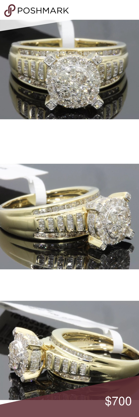 Gorgeous 0.98 carat 10k yellow gold diamond ring Gorgeous 0.98 carat 10k yellow gold diamond ring Jewelry Rings