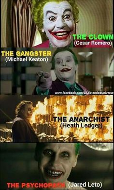 The Jokers (I don't understand why Michael Keaton's name is there, it's supposed to be Jack Nicholson, but if I'm wrong please correct me)