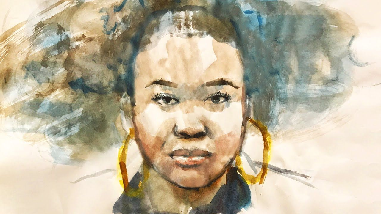 Simple Steps To Find The Face Proportions With Watercolor