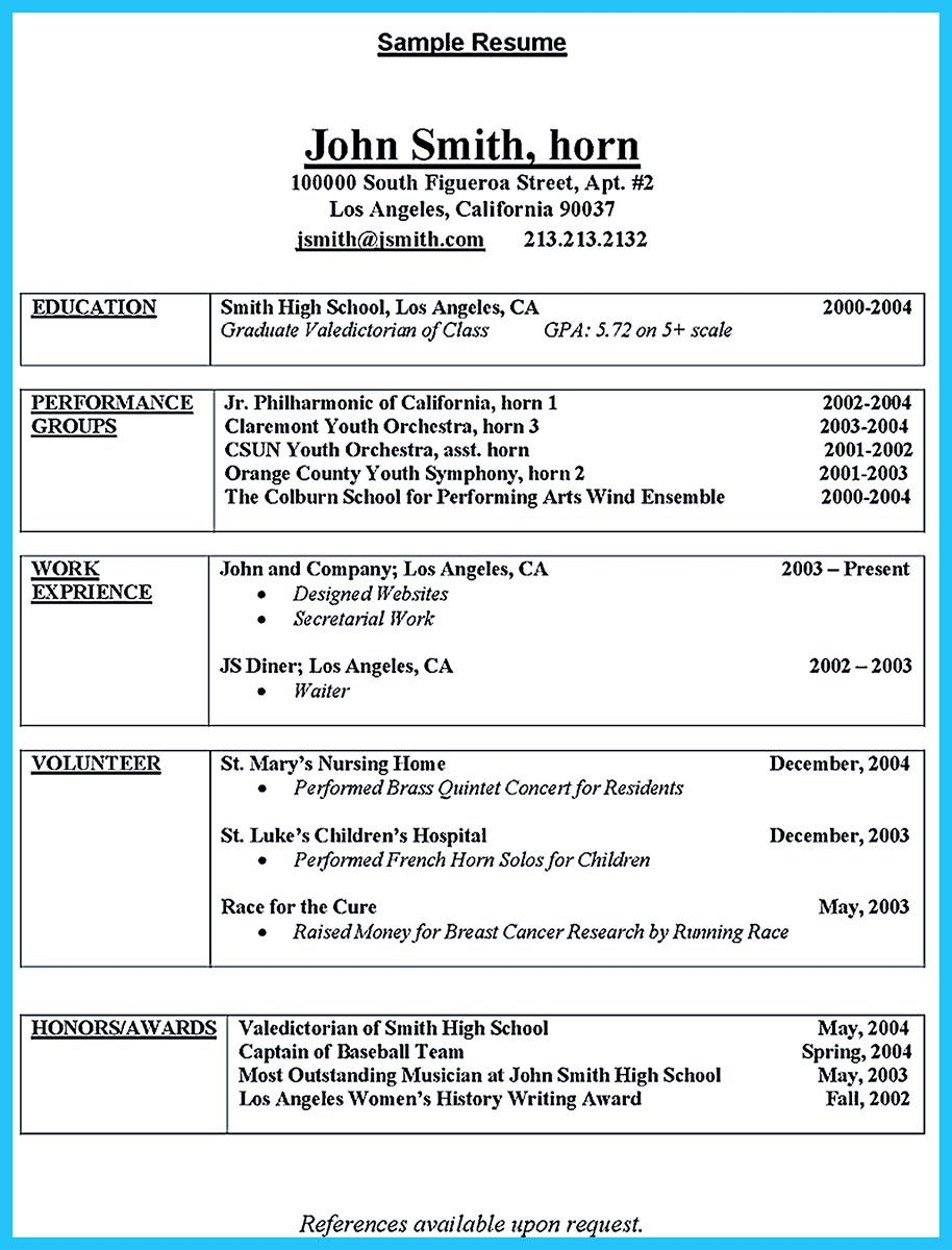 Learning To Write An Audition Resume College Resume Student
